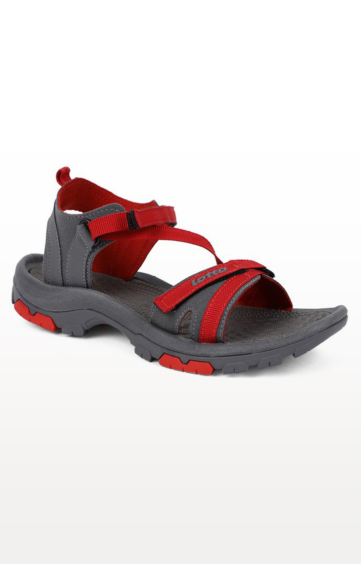 Lotto | Lotto Women's Terra Grey/Red Sandals