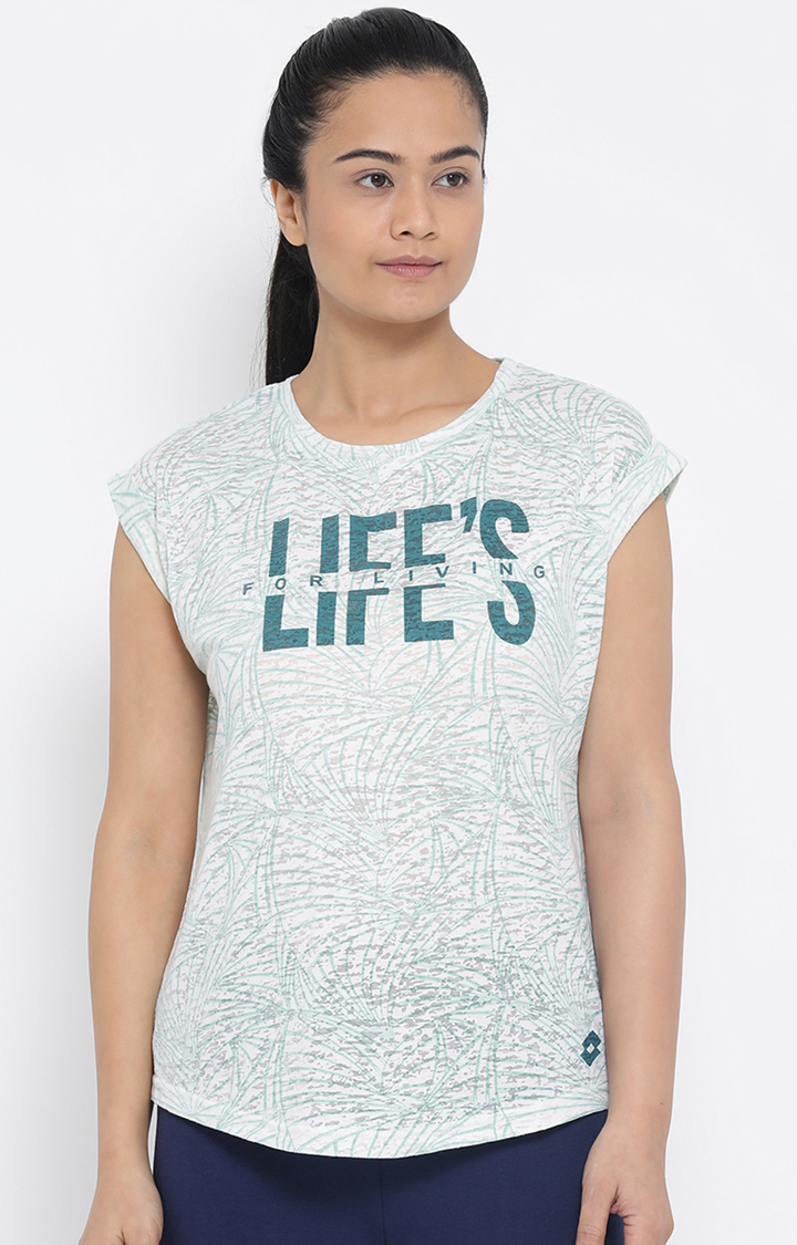 Lotto | Lotto Green Printed L73 T-Shirt