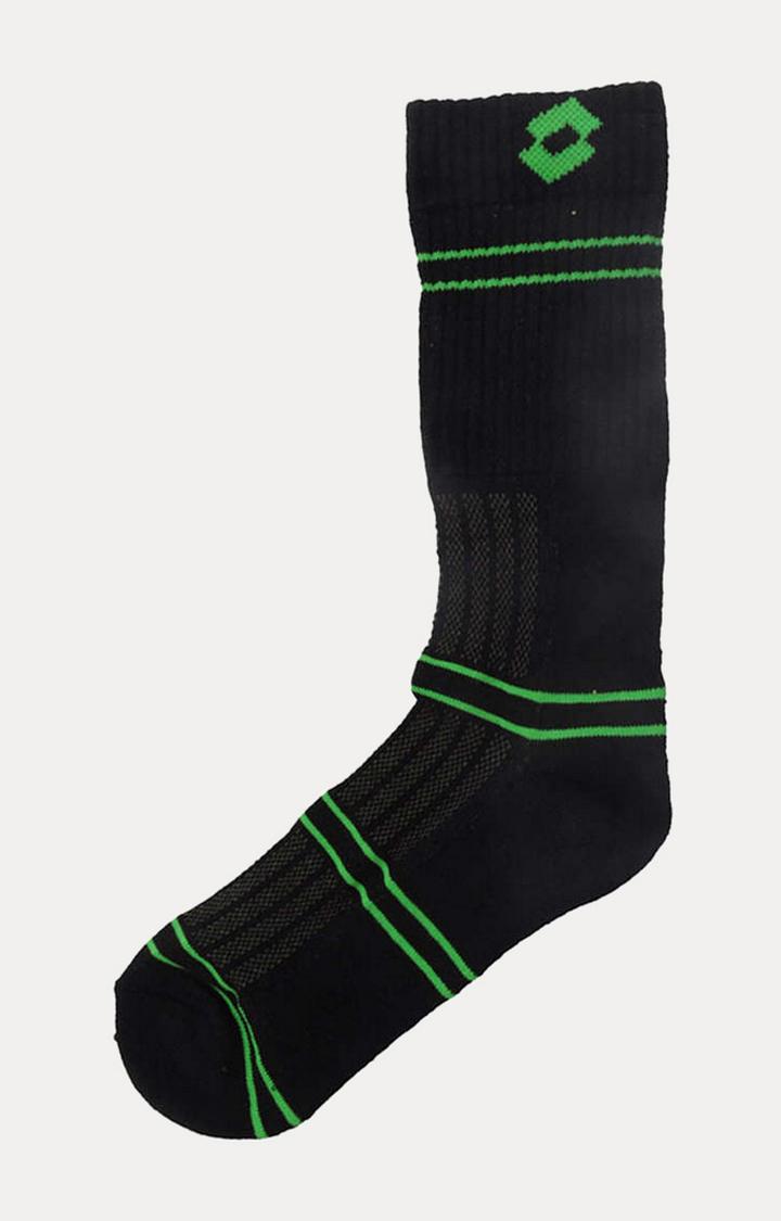 Lotto | Black and Green Striped Socks