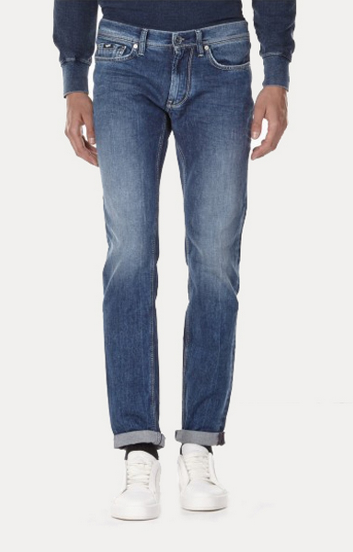 GAS   Anders K Lightly Washed Slim Fit Jeans