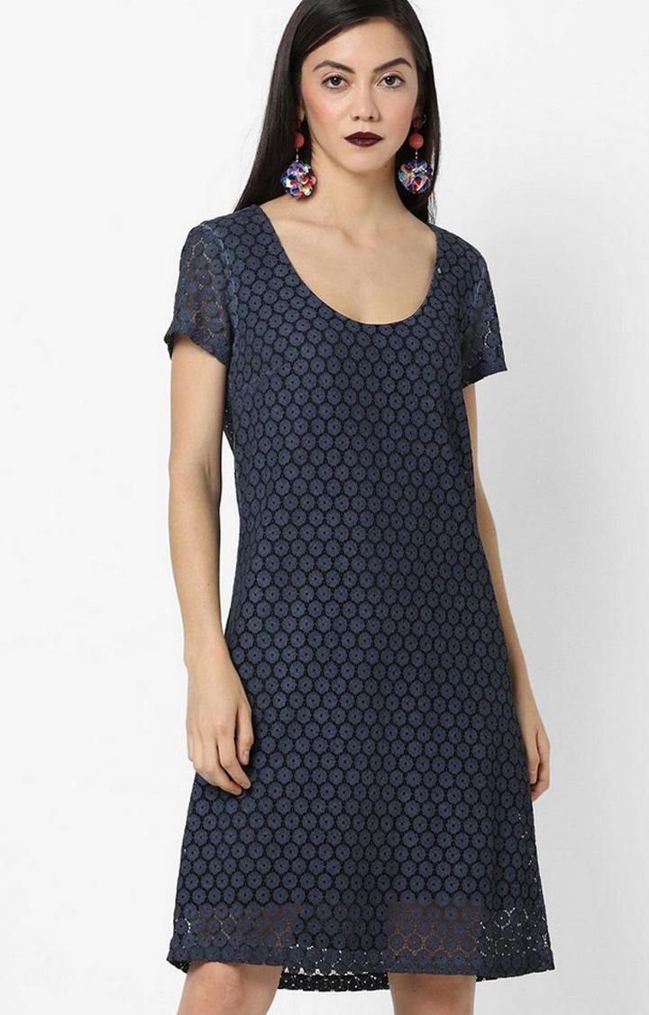 GAS | Women's regular fit round neck half sleeves Infinyte dress
