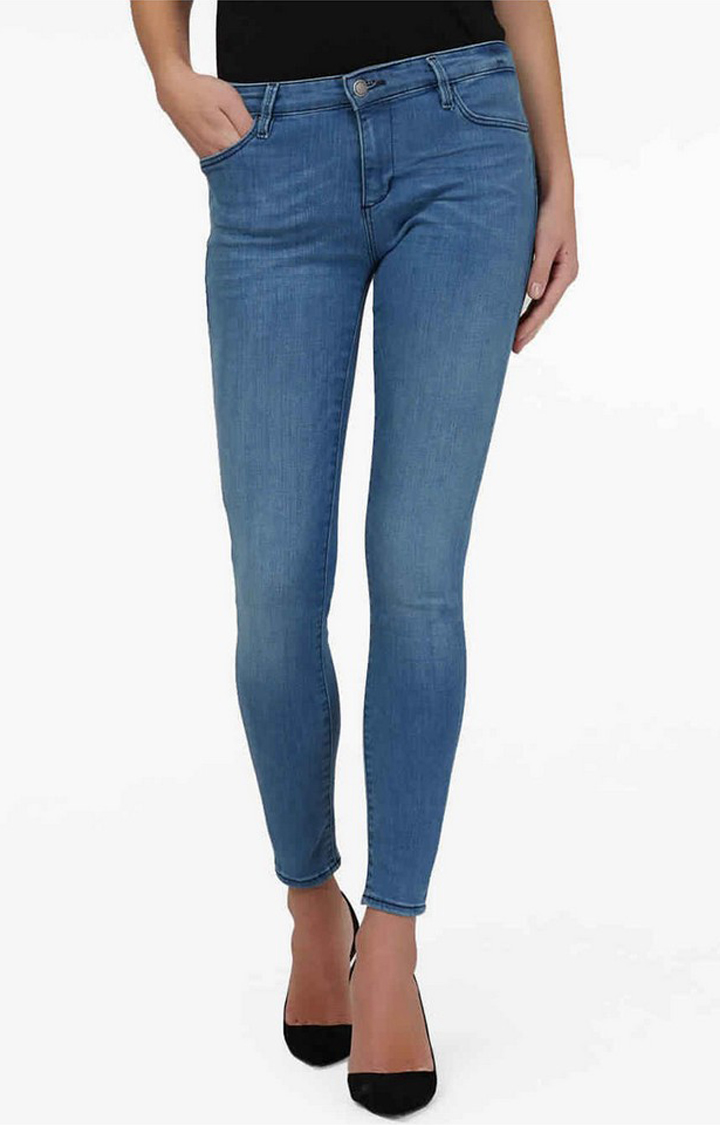 GAS | Women's mid wash skinny fit Star jeans