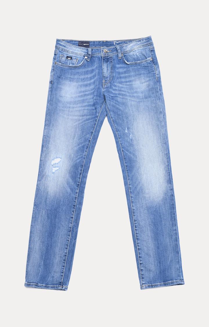 GAS   Albert Simple Slim Fit Distressed Jeans