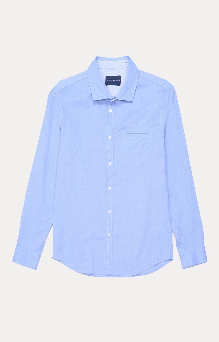 GAS | Men's Sasha solid blue shirt