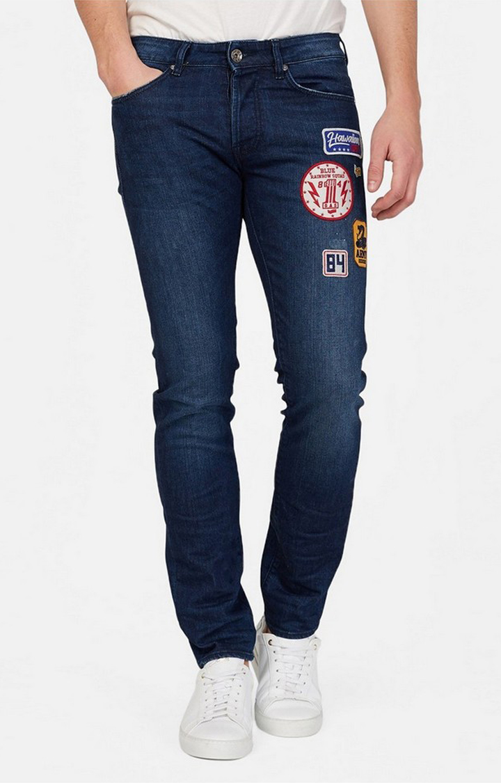 GAS | Lightly Washed Jeans with Applique