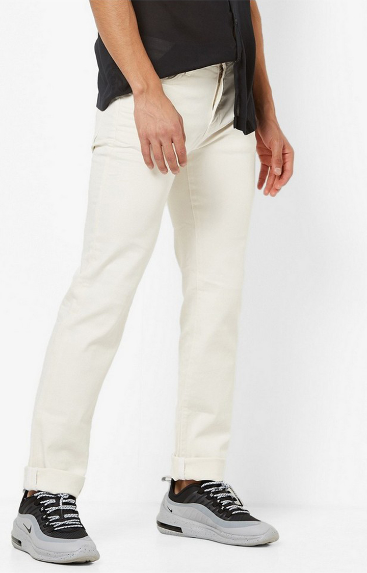 GAS | Albert Slim Fit Mid-Rise Off-white Jeans