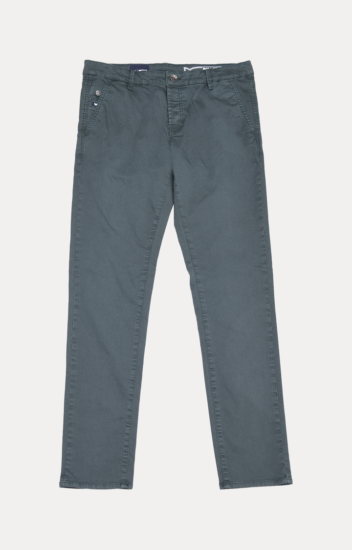 GAS | Grey Solid Straight Jeans