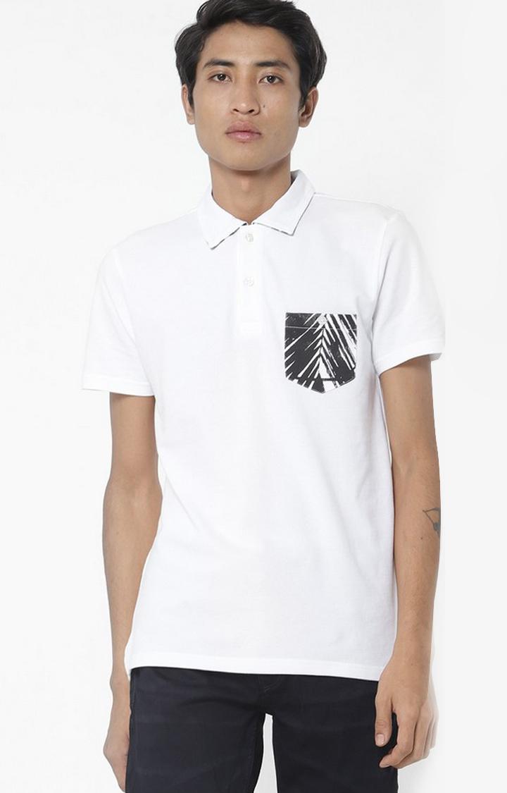 GAS | Yoyo/S Patch Pocket  White Polo T-Shirt
