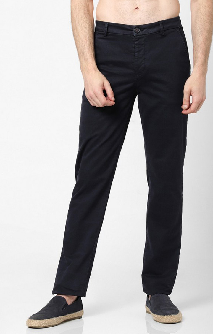 GAS | Slim Fit Flat-Front Trousers