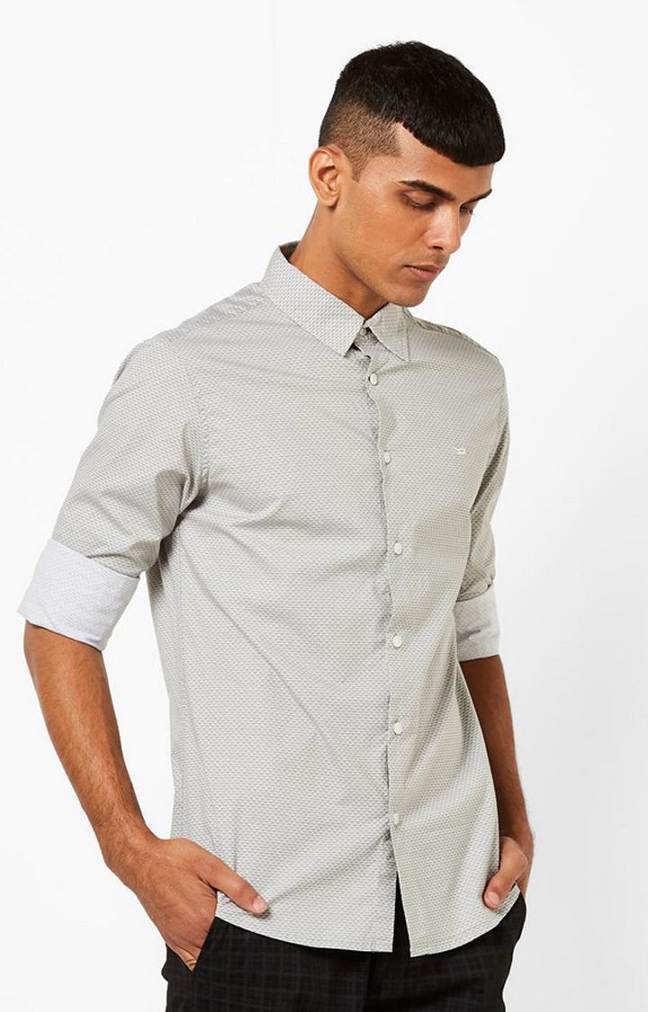 GAS | Men's Sir Det all over printed grey shirt
