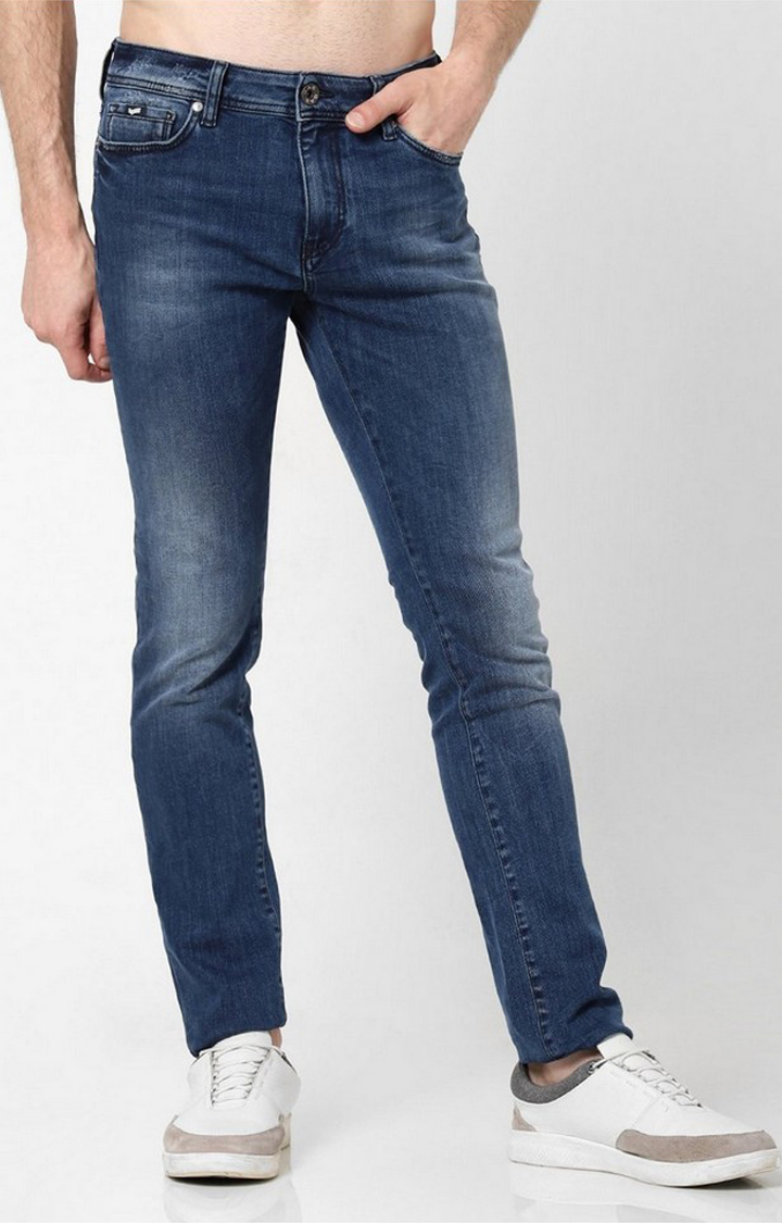 GAS | Men's Washed Mid Blue Skinny Jeans