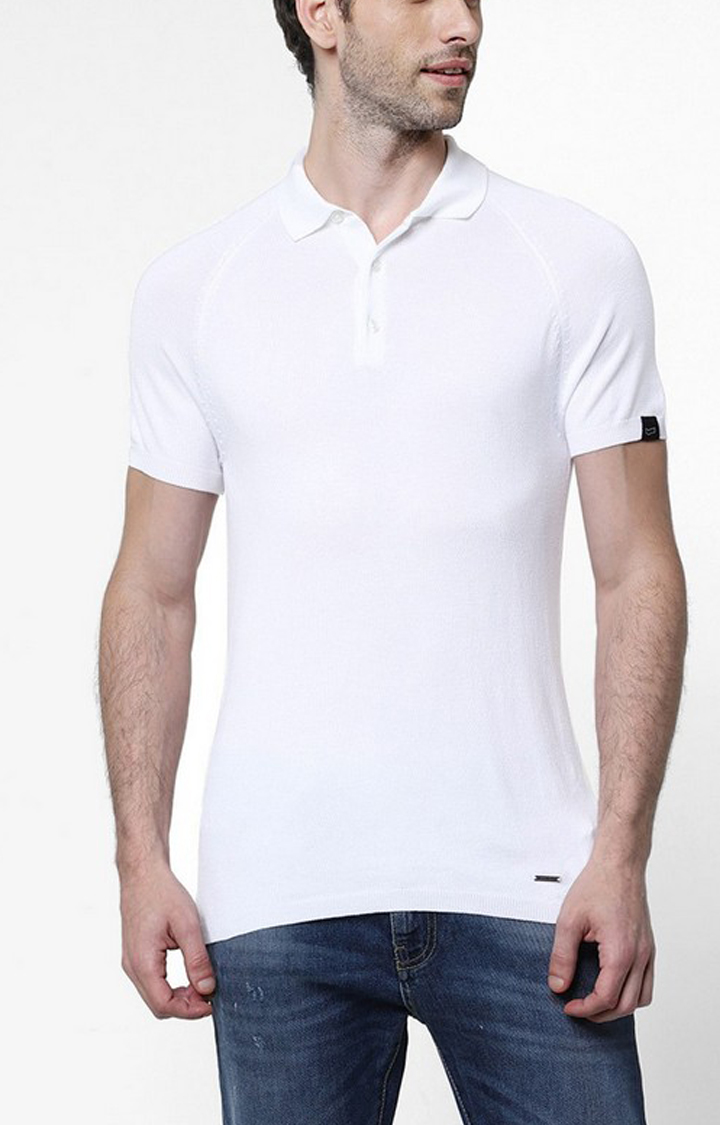 GAS | Ryce White Solid Polo Shirt