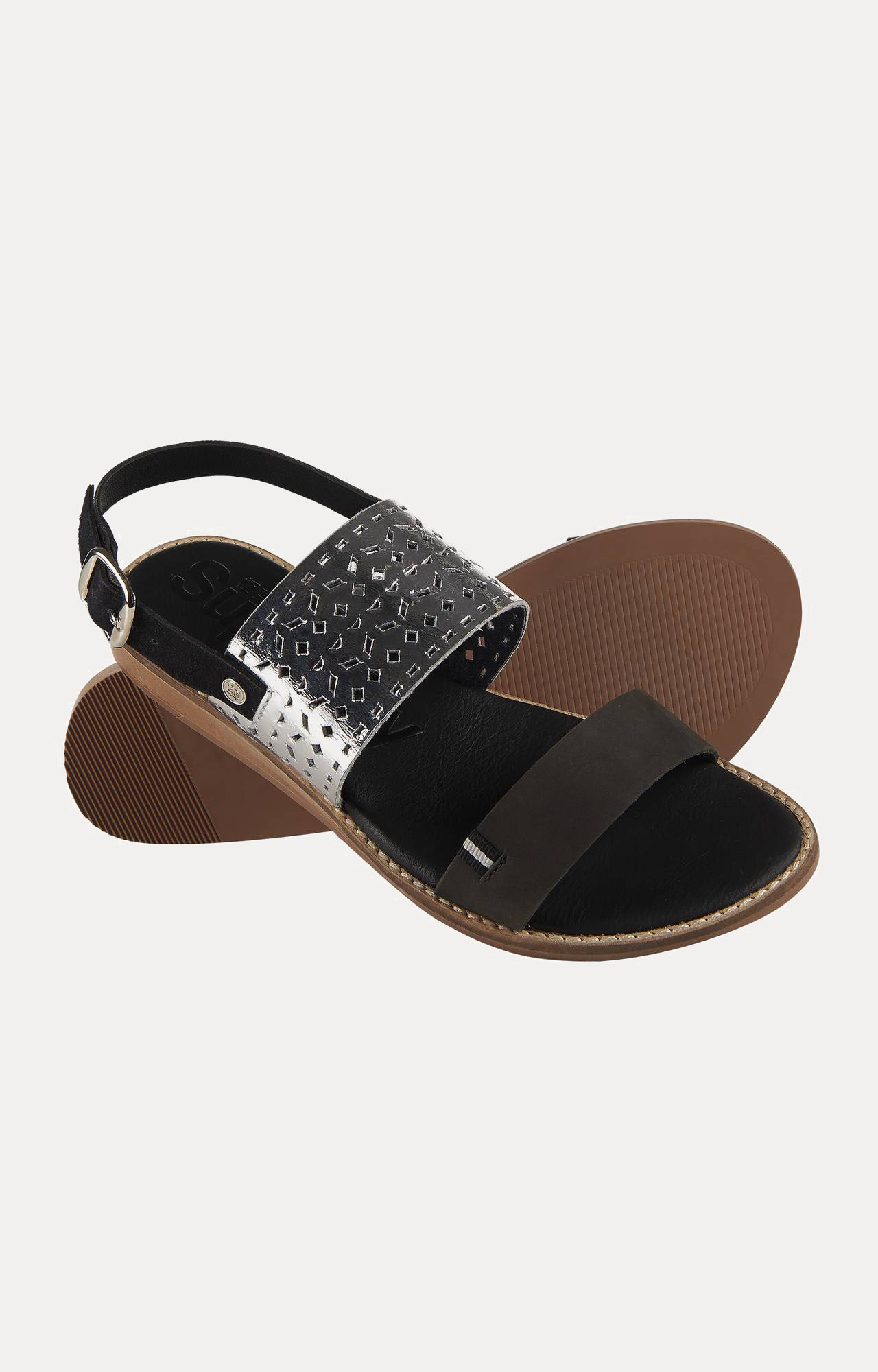 Superdry | Sandbar Double Strap Black Sandals
