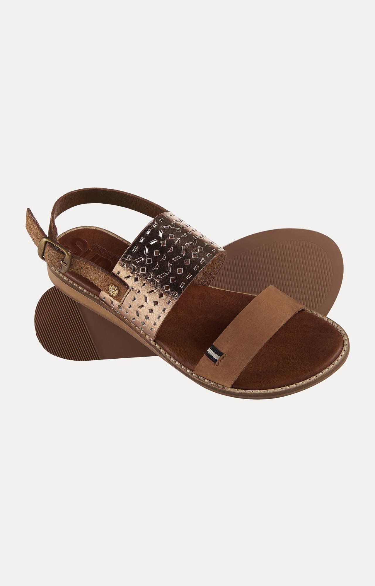 Superdry | Sandbar Double Strap Tan Sandals