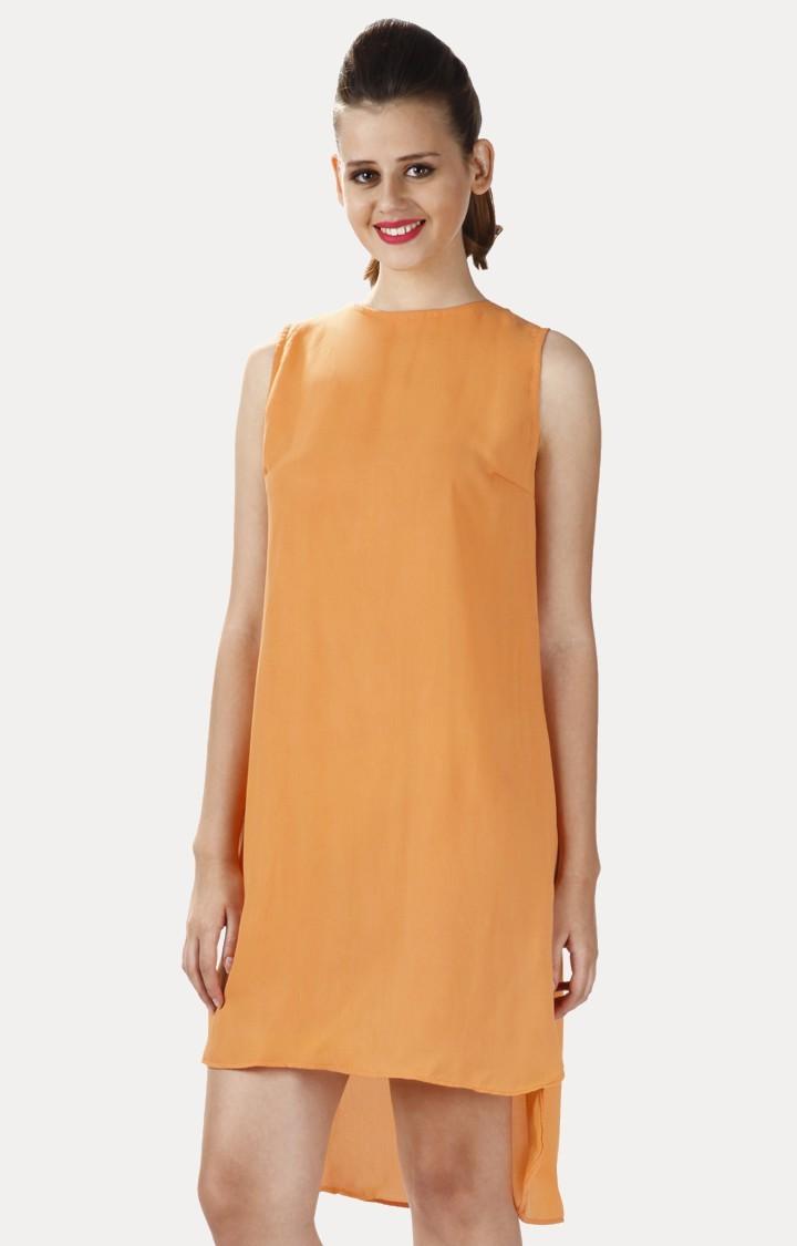 MISS CHASE   Orange Asymmetric Dress