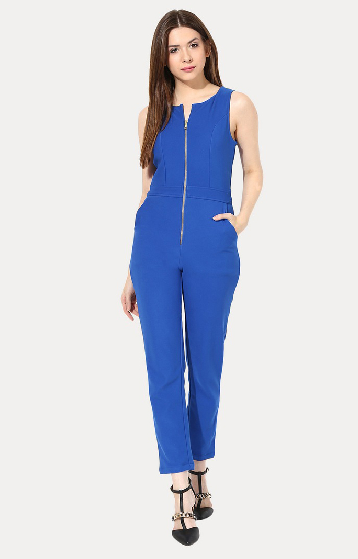 MISS CHASE   Blue Long Jumpsuit