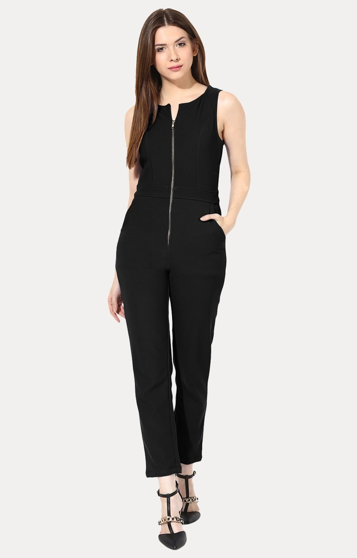 MISS CHASE   Black Long Jumpsuit