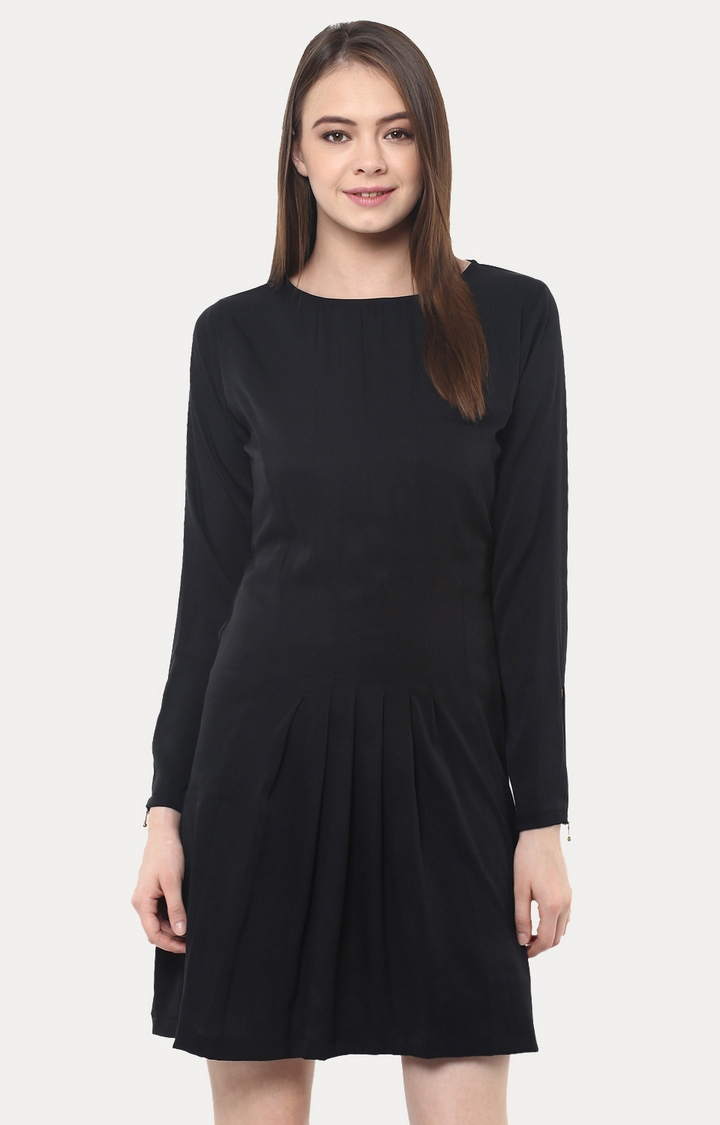 MISS CHASE | Black Mini Shift Dress