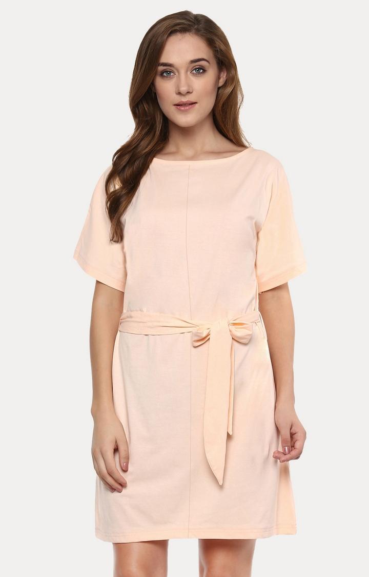 MISS CHASE | Peach Shift Dress
