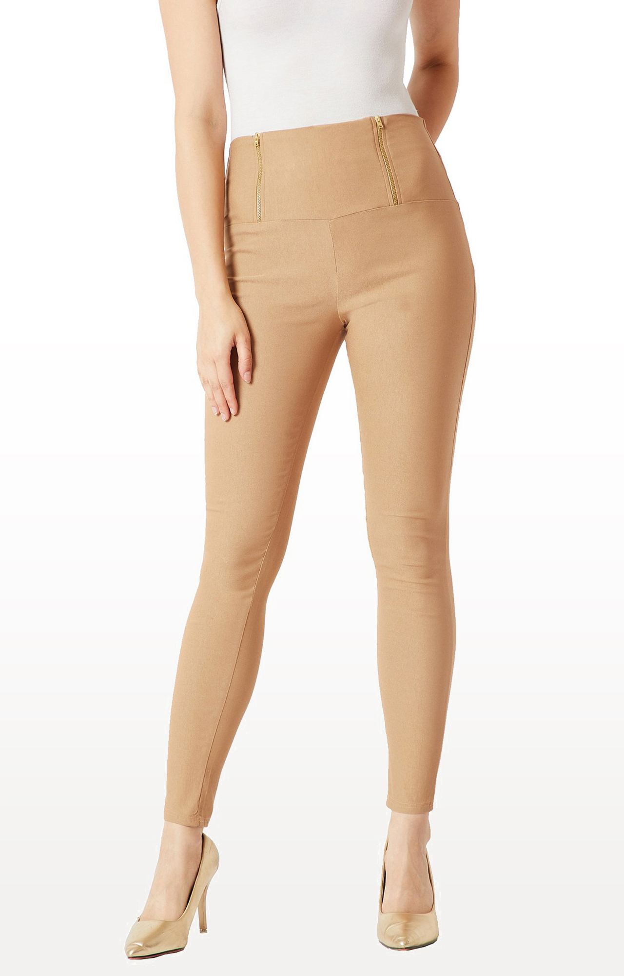 MISS CHASE   Beige Jeggings