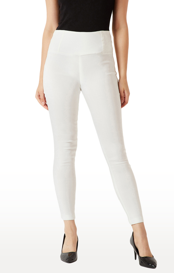 MISS CHASE | White Jeggings