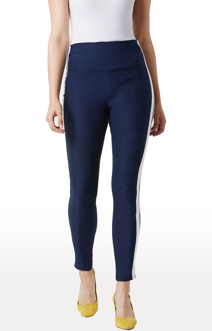 MISS CHASE | Navy Jeggings