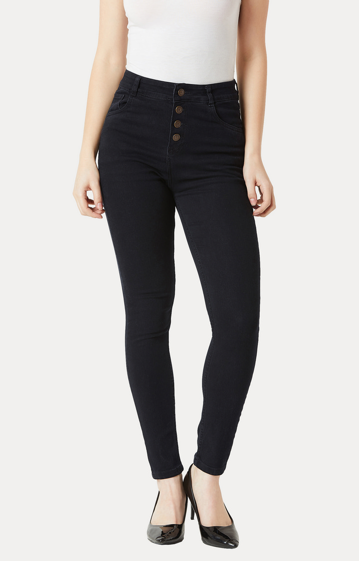 MISS CHASE | Black Clean Look Stretchable Jeans