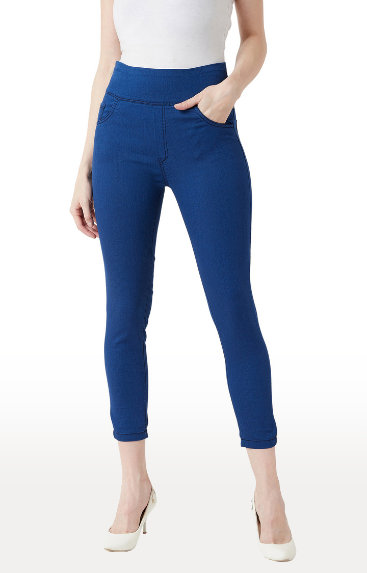 MISS CHASE | Carbon Blue Jeggings