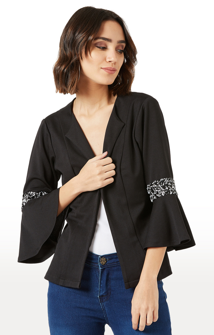 MISS CHASE | Black Solid Jacket