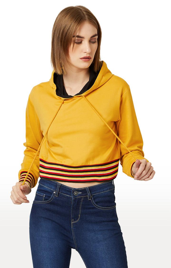 MISS CHASE | Yellow Solid Sweatshirt
