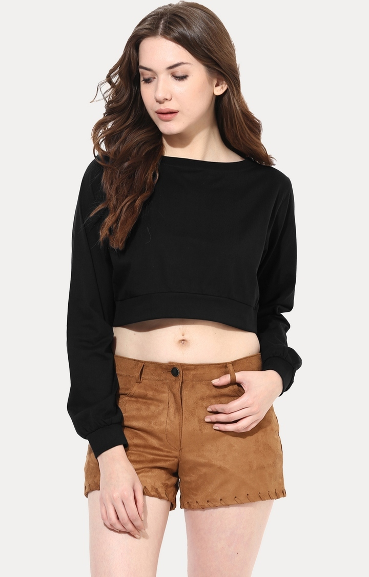 MISS CHASE | Black Big Is Beautiful Oversized Top