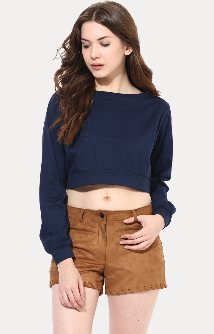 MISS CHASE | Dark Blue Big Is Beautiful Oversized Top