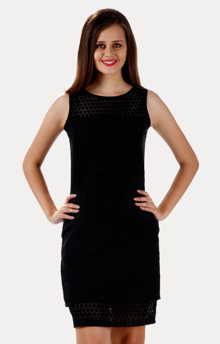 MISS CHASE | Black Pretty Lady Lace Dress