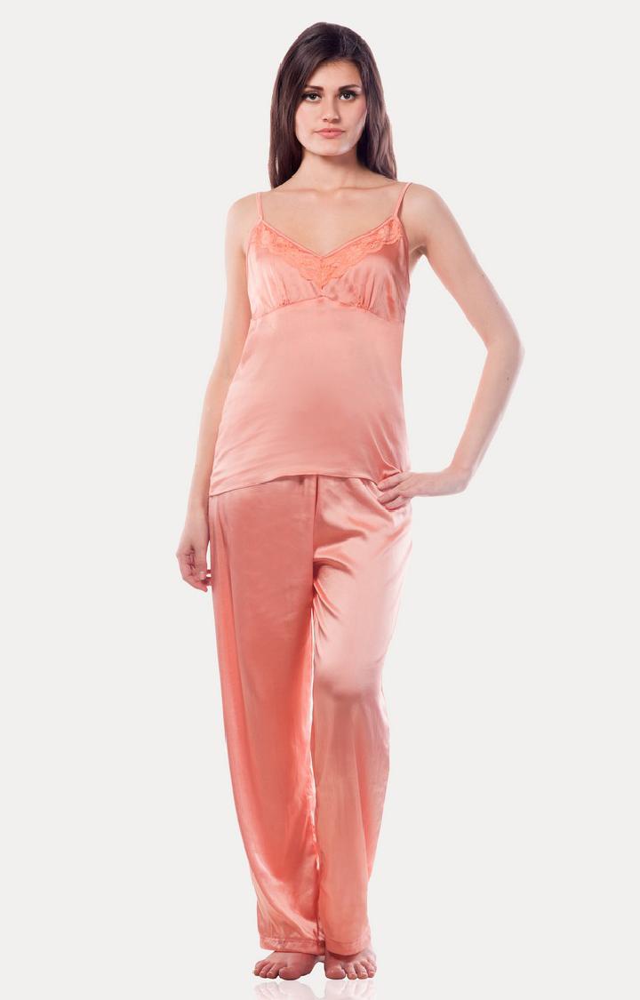 MISS CHASE | Peach Nightwear Set