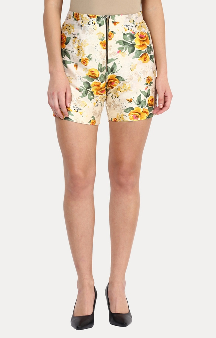 MISS CHASE   Multicoloured Live A Little Floral Shorts