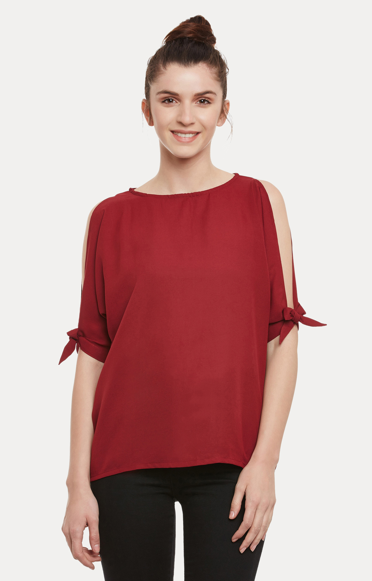 MISS CHASE   Maroon Solid Top