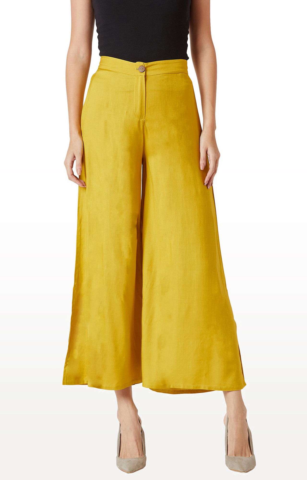 MISS CHASE | Mustard Solid Palazzos