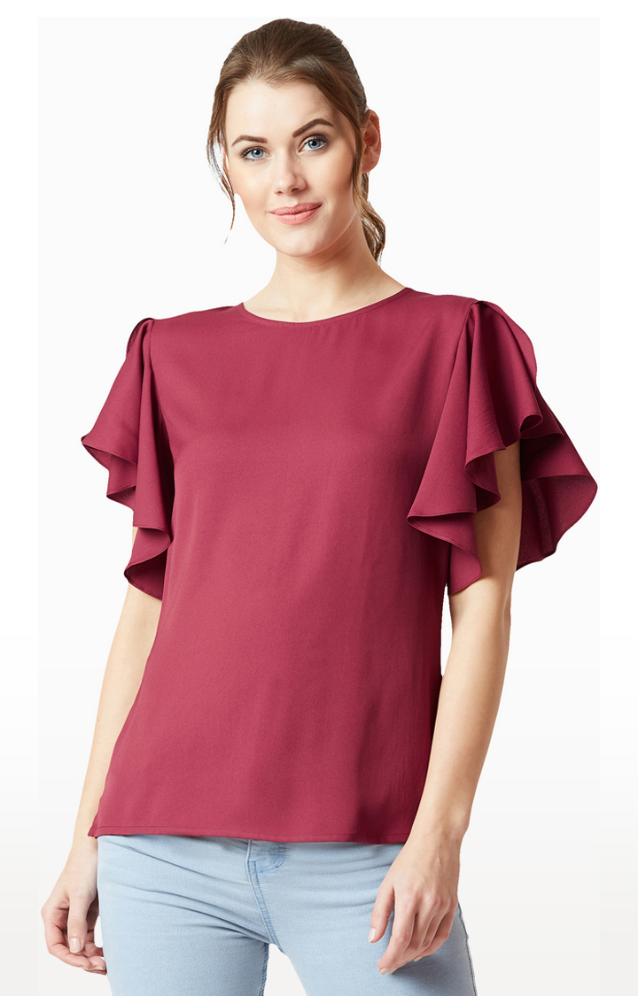 MISS CHASE   Purple Solid Top