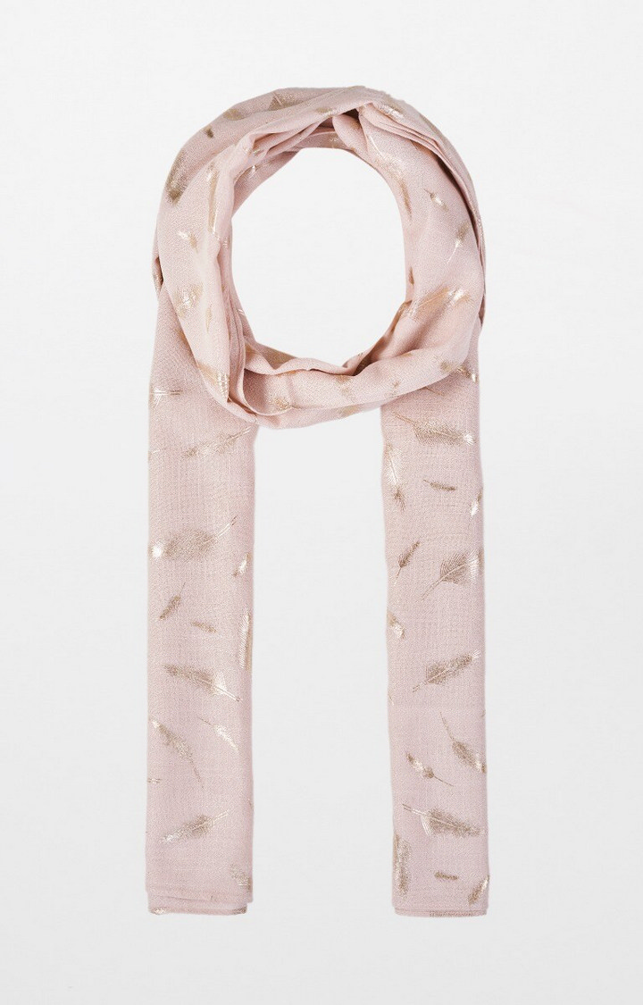 AND   Beige Printed Scarf