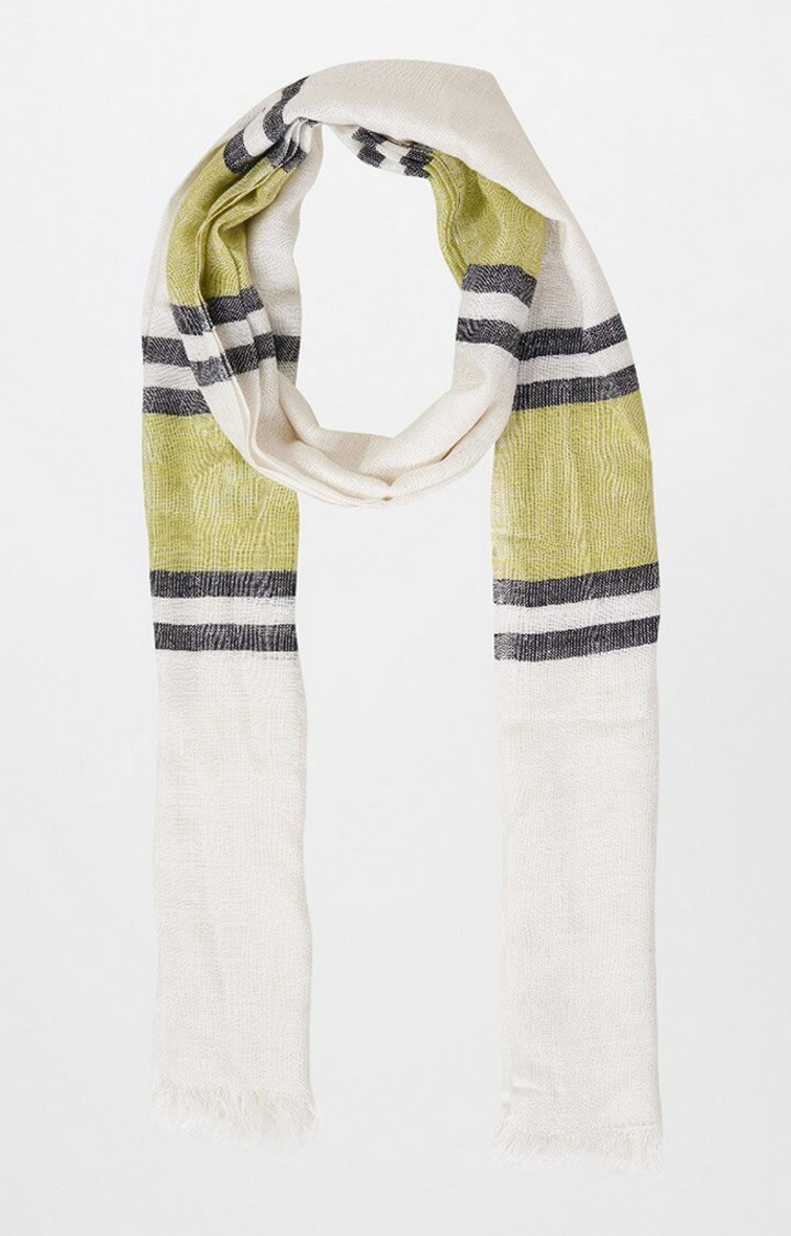 AND   Beige Striped Scarf