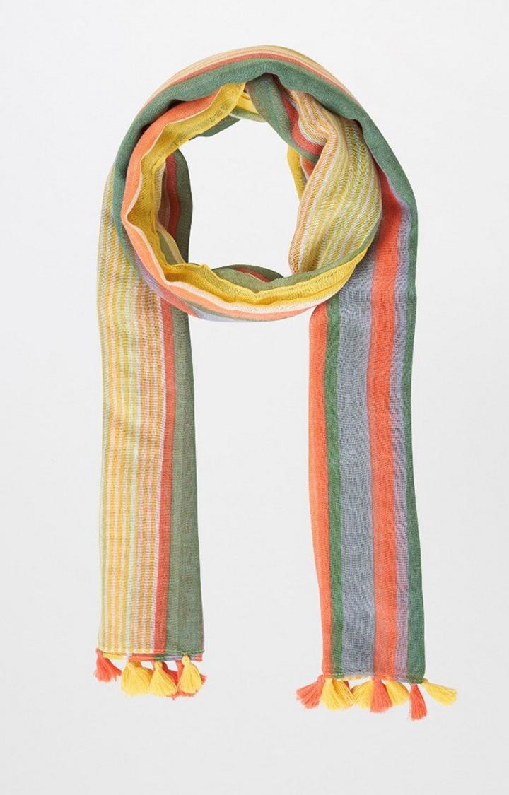 AND   Multicoloured Striped Scarf