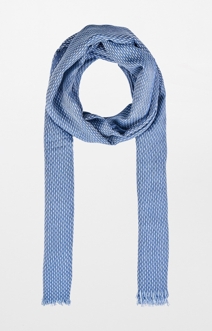 AND   Blue Printed Scarf