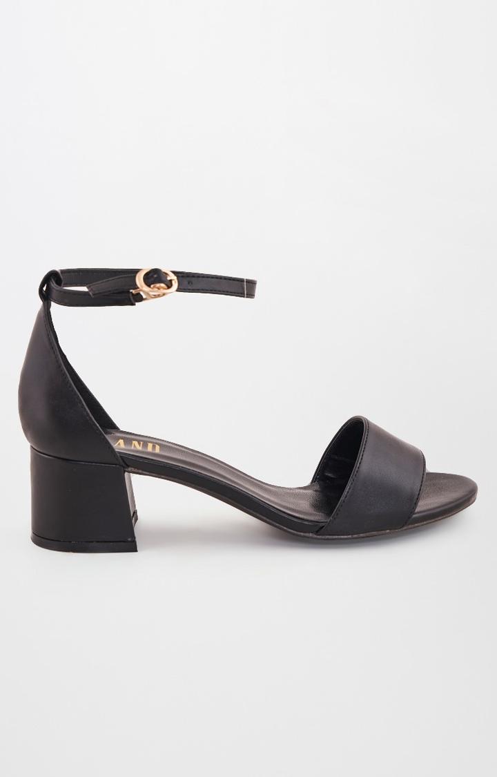 AND   Black Block Heels