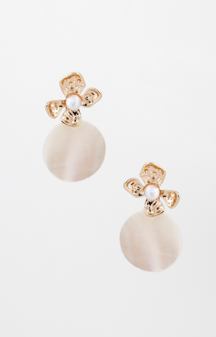 AND | White Dangle and Drop Earrings