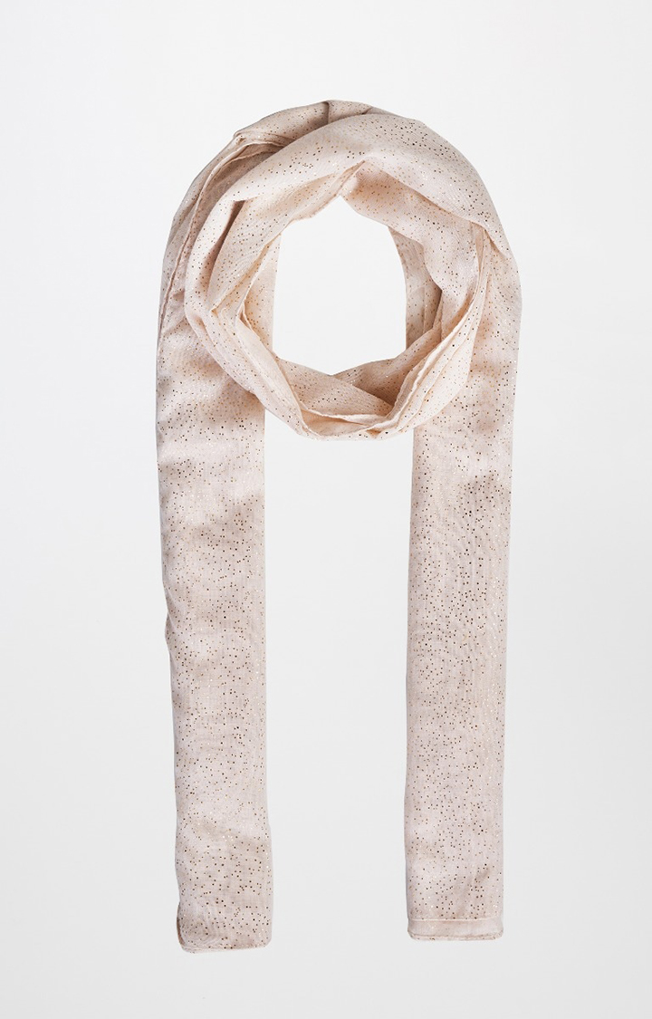 AND | Off White Printed Scarf