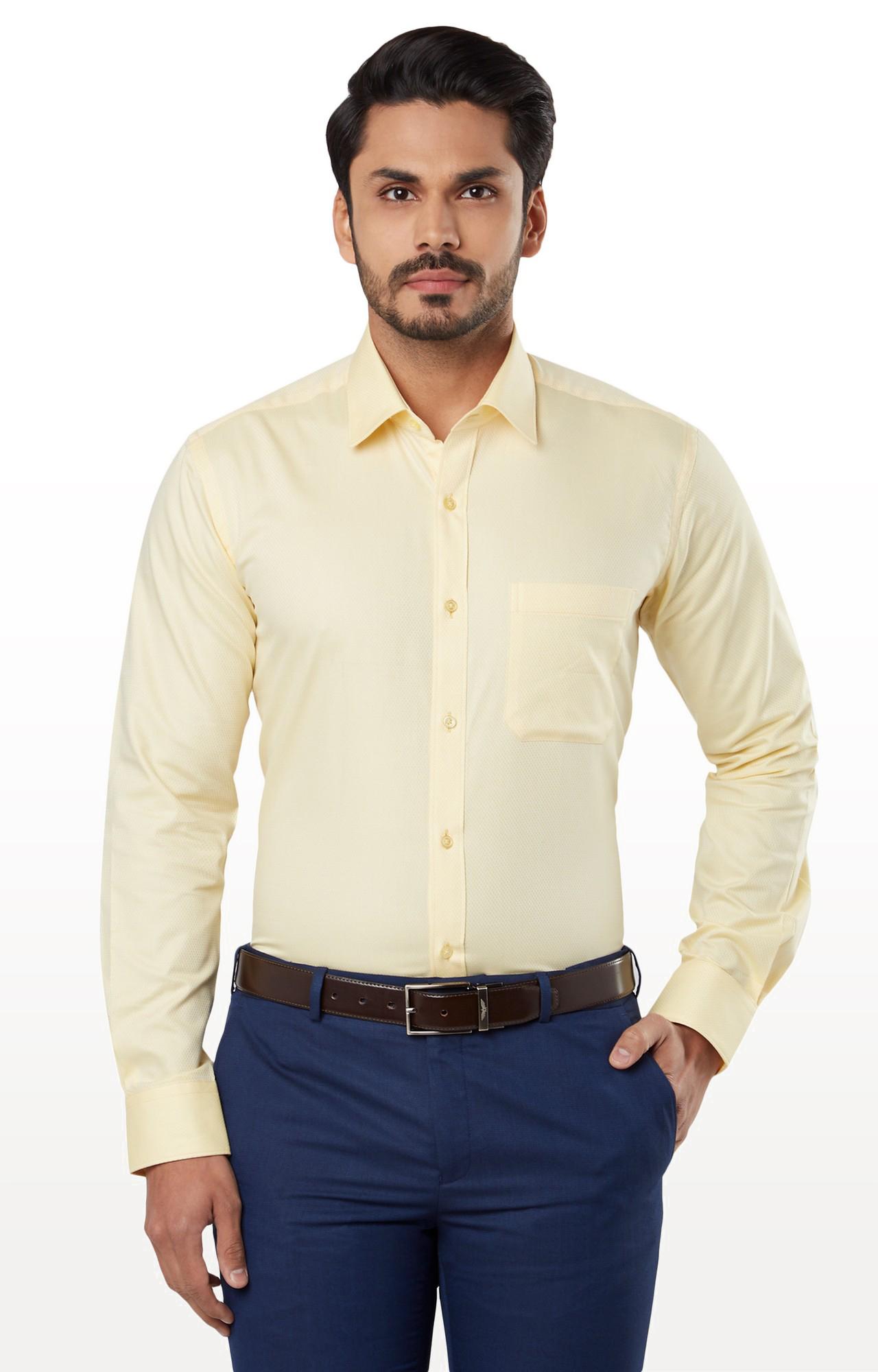 Raymond | Yellow Solid Formal Shirt