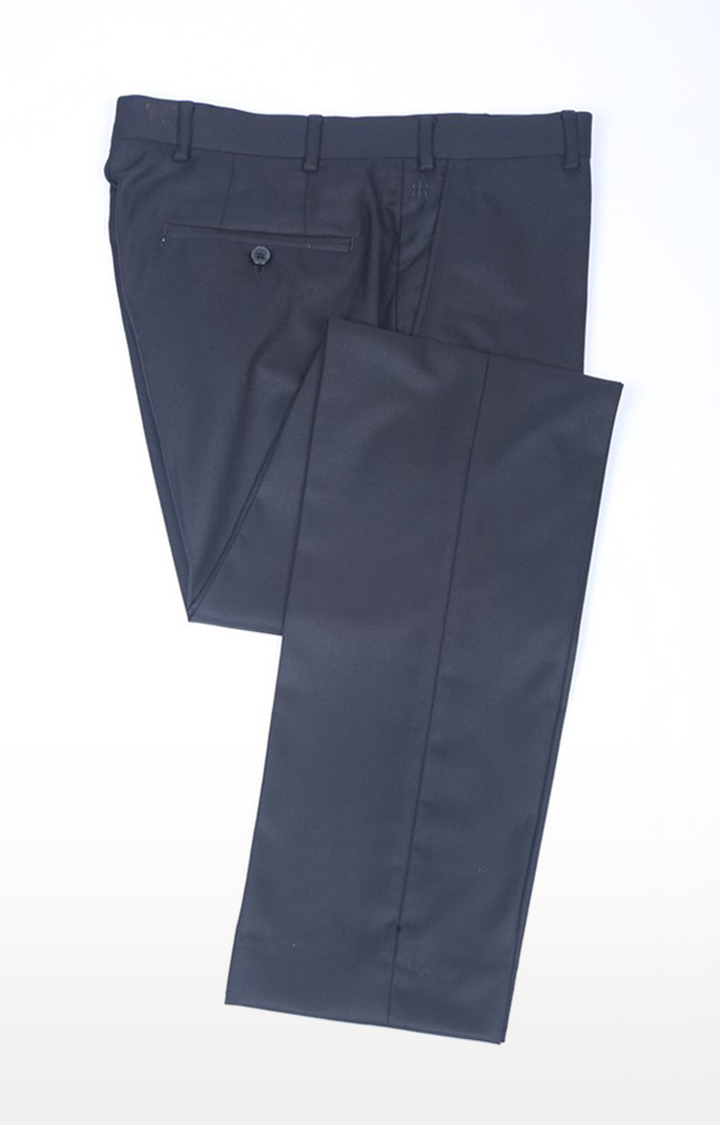Black Flat Front Formal Trousers
