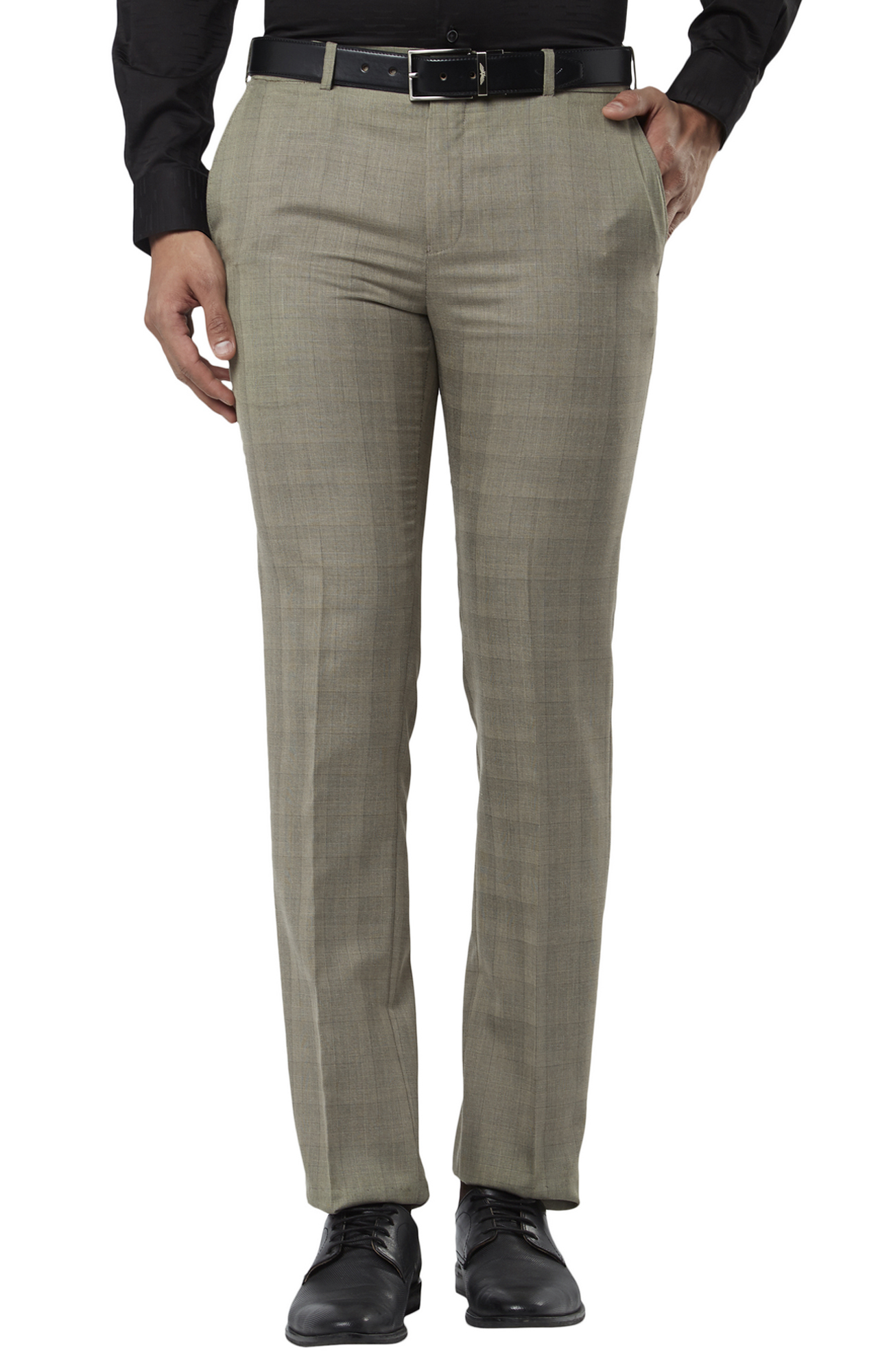 Raymond   Fawn Flat Front Formal Trousers