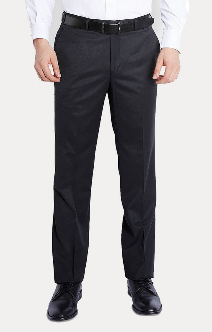 Raymond | Black Straight Formal Trousers