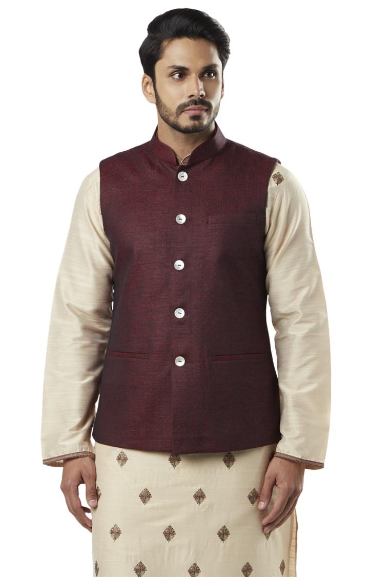 Raymond | Red Ethnic Bundi Jacket